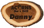 Genuine Wood Log Name Badge Name Badges & Plates